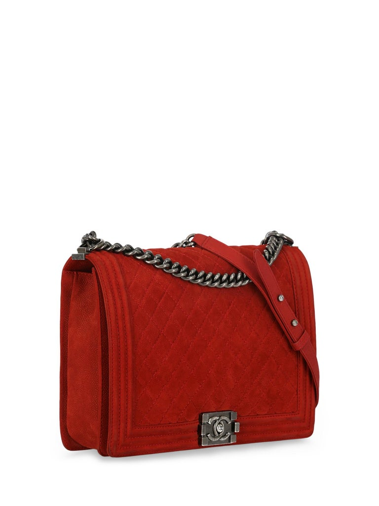 Chanel Woman Boy Red  In Fair Condition For Sale In Milan, IT