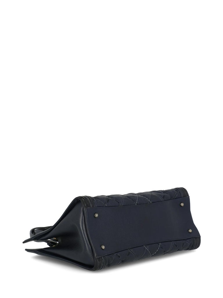 Women's Chanel Woman Boy Tote Navy  For Sale
