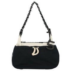 Chanel Woman Shoulder bag Navy, White