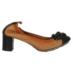 Chanel Women  Pumps Black Leather IT 38