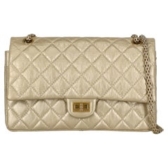 Chanel  Women Shoulder bags 2.55 Gold Leather