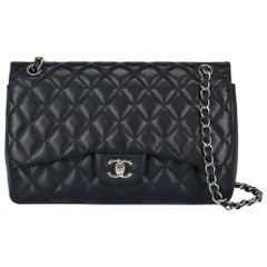 Chanel Women's Crossbody Bag Timeless Navy Leather