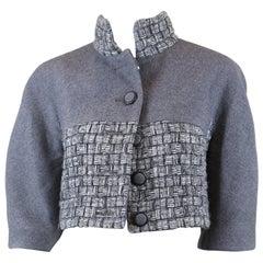 Chanel Women's Gray Wool Short Blazer