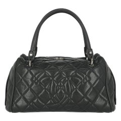 Chanel Women's Handbag Black Leather