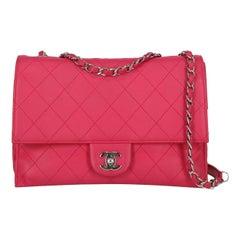 Chanel Women's Shoulder Bag Pink Leather