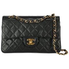 Chanel Women's Shoulder Bag Timeless Navy Leather