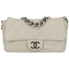 Chanel Women's Shoulder Bag White Leather