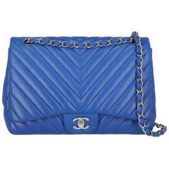 Chanel Women's Timeless Navy Leather