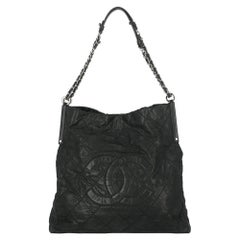 Chanel Women's Tote Bags Black Leather