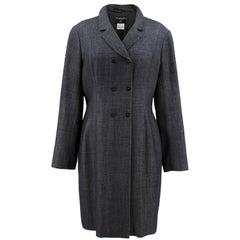 Chanel Wool Blend Grey Coat