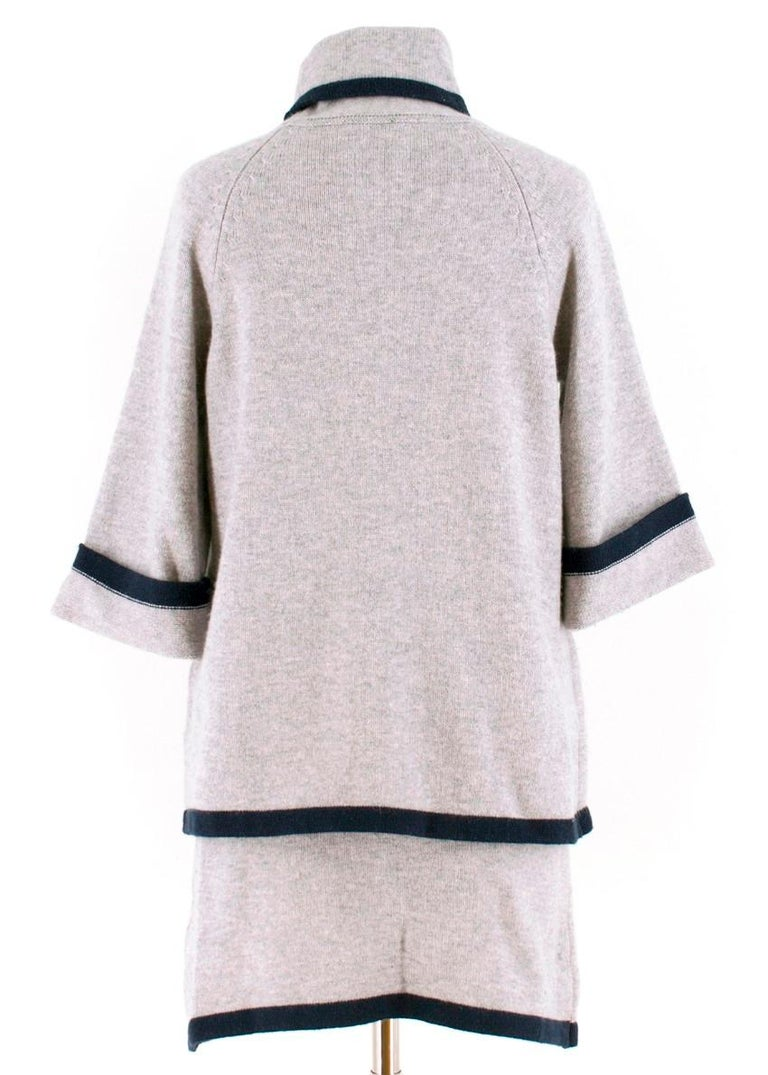 Chanel wool & cashmere two piece skirt & top US 8 In Excellent Condition For Sale In London, GB