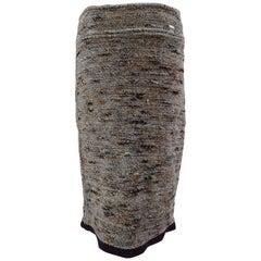 Chanel wool skirt