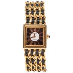 Chanel Woven Chain Mademoiselle 18K Watch