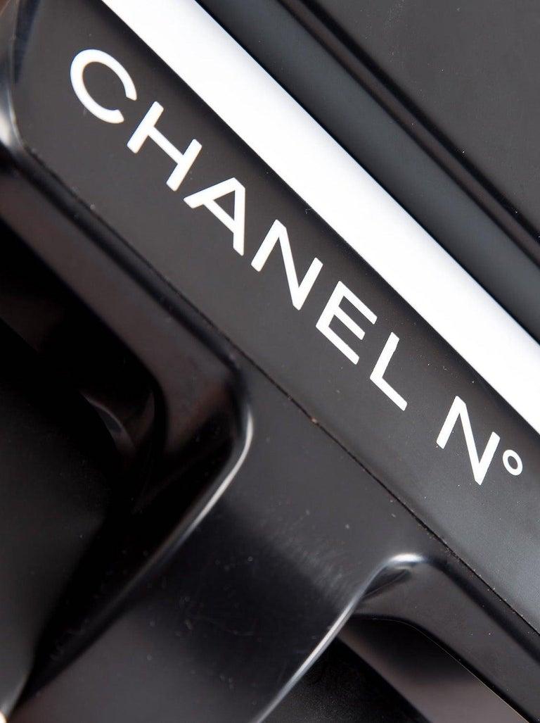 Women's or Men's Chanel x Medicom Kubrick Limited Edition Black White Decorative Bear Toy Figure For Sale