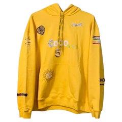 Chanel x Pharrell 2019 Chanel Appliqué Sunflower Yellow Hoodie