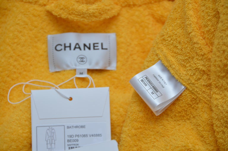 Chanel x Pharrell Capsule Collection Bathrobe Saffron  Lesage Embroidery M  NEW In New Condition For Sale In Hollywood, FL