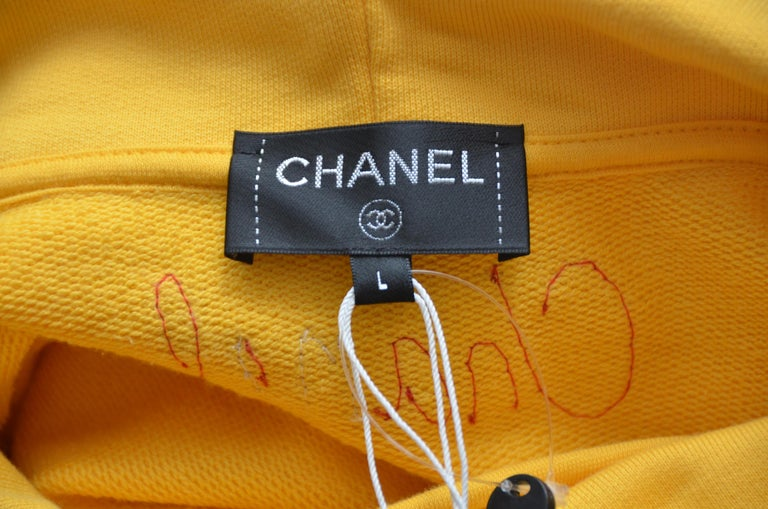 Chanel x Pharrell Capsule Collection Hoodie  Lesage Embroidery Yellow  L NEW For Sale 4