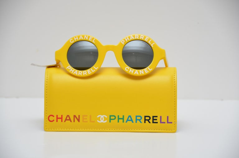 62b3b53ee5 Chanel x Pharrell Capsule Collection Yellow Jaune Sunglasses NEW In New  Condition For Sale In Hollywood