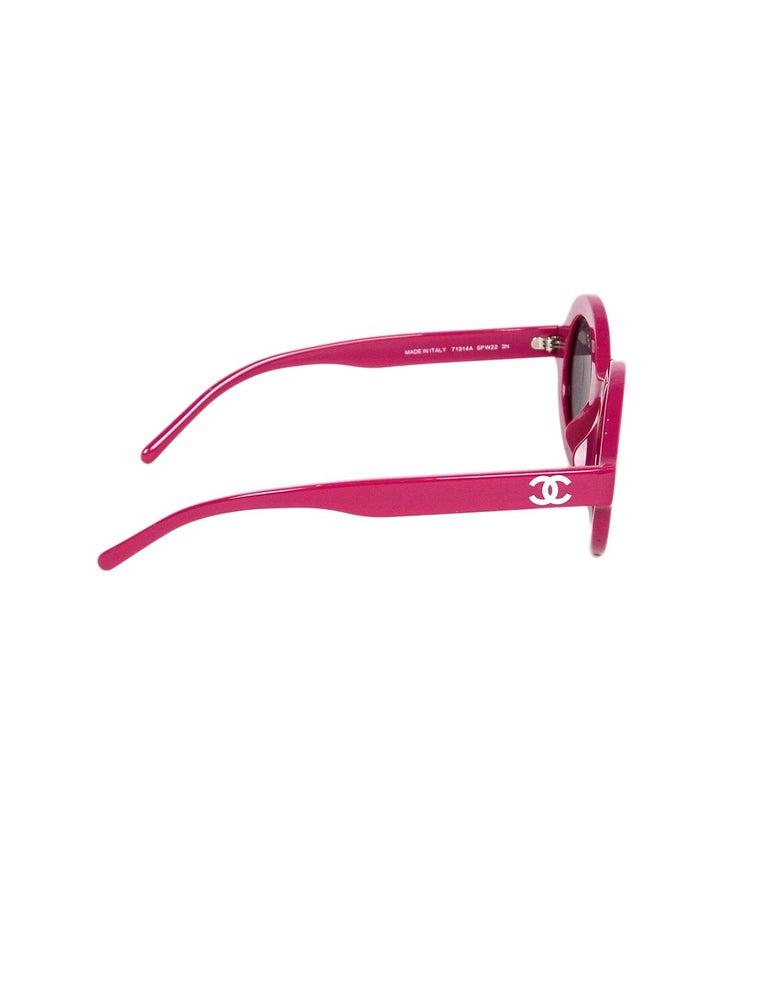Brown Chanel x Pharrell Williams NEW SOLD OUT 2019 Round Frame Violet Sunglasses For Sale