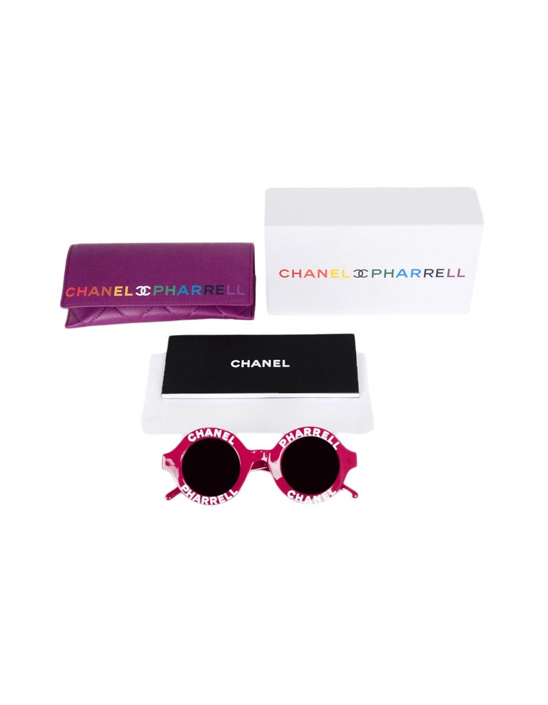 Chanel x Pharrell Williams NEW SOLD OUT 2019 Round Frame Violet Sunglasses For Sale 5