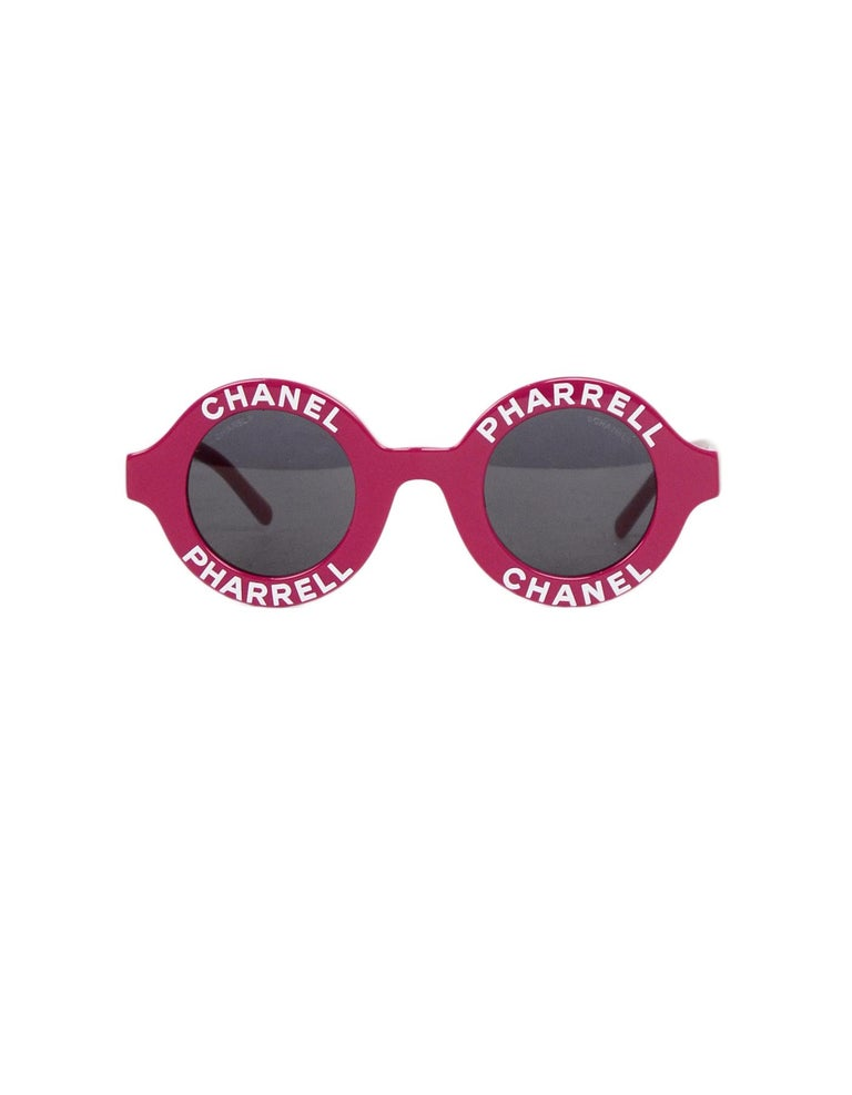 Chanel x Pharrell Williams NEW SOLD OUT 2019 Round Frame Violet Sunglasses In New Condition For Sale In New York, NY