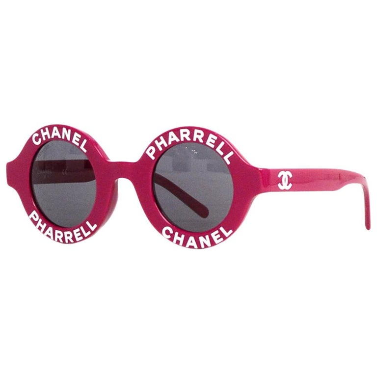 Chanel x Pharrell Williams NEW SOLD OUT 2019 Round Frame Violet Sunglasses For Sale