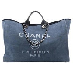 Chanel XL Blue Deauville Tote