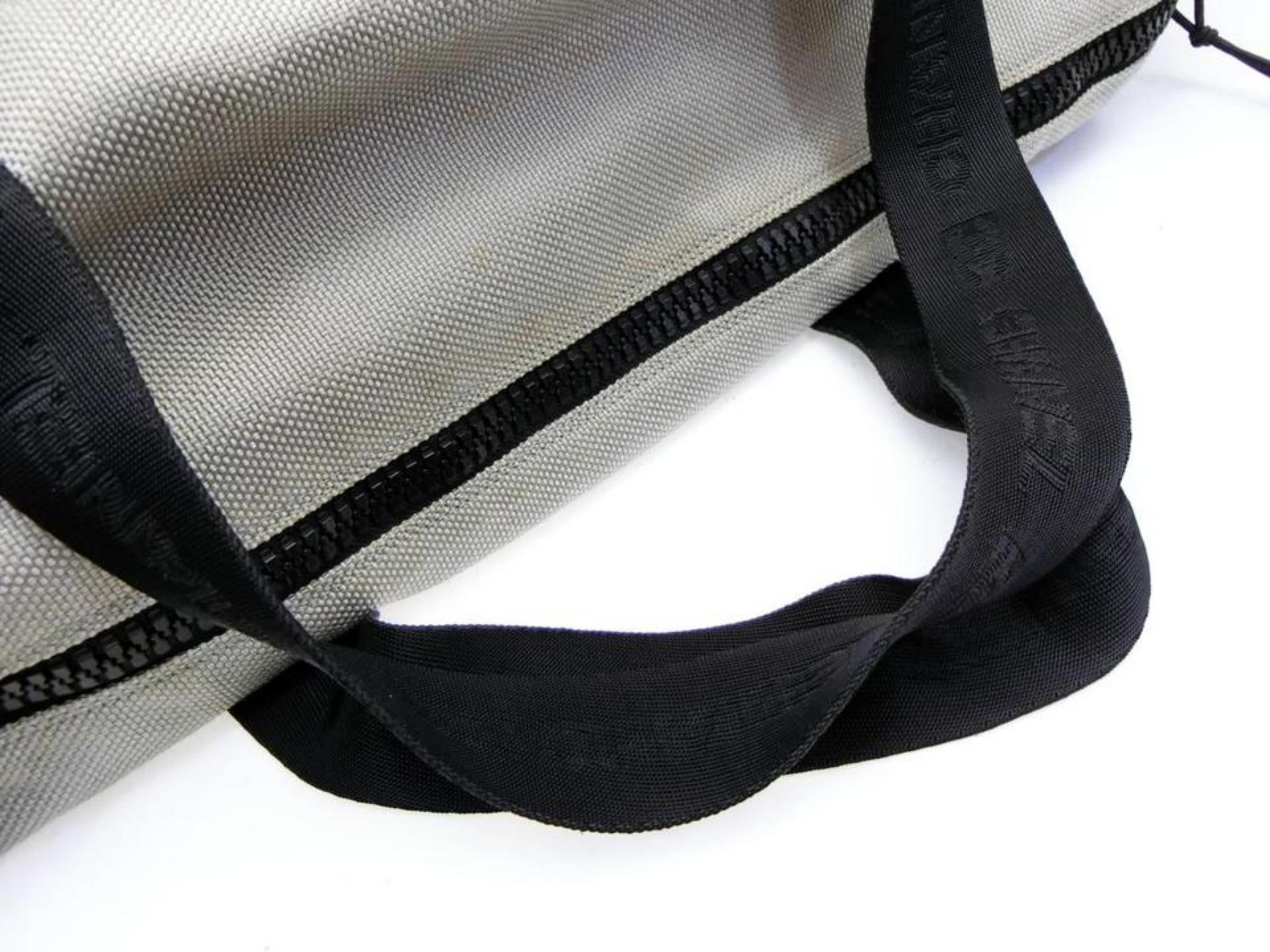 2ad23ea9d72 Chanel Xl Mesh Sports Cc Logo Duffle 230183 Grey Coated Canvas  Weekend Travel For Sale at 1stdibs