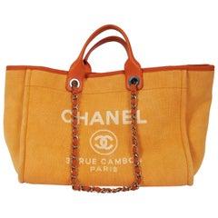 Chanel XL Orange Deauville Shopper