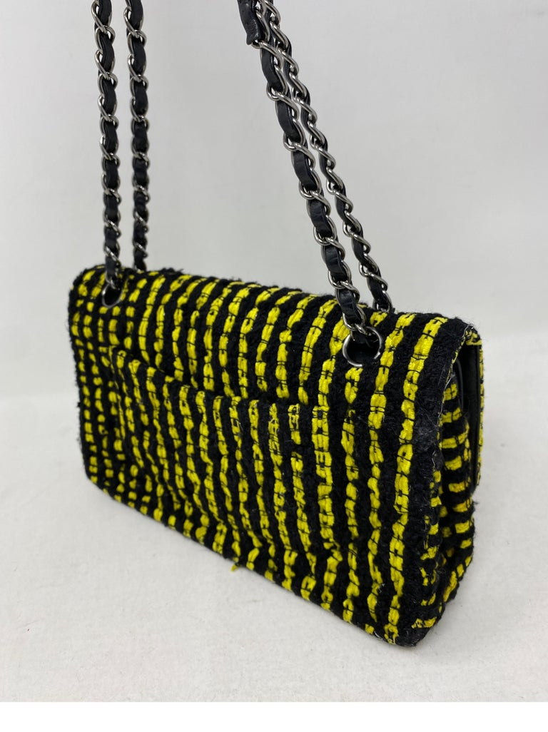 Chanel Yellow and Black Tweed Bag For Sale 3