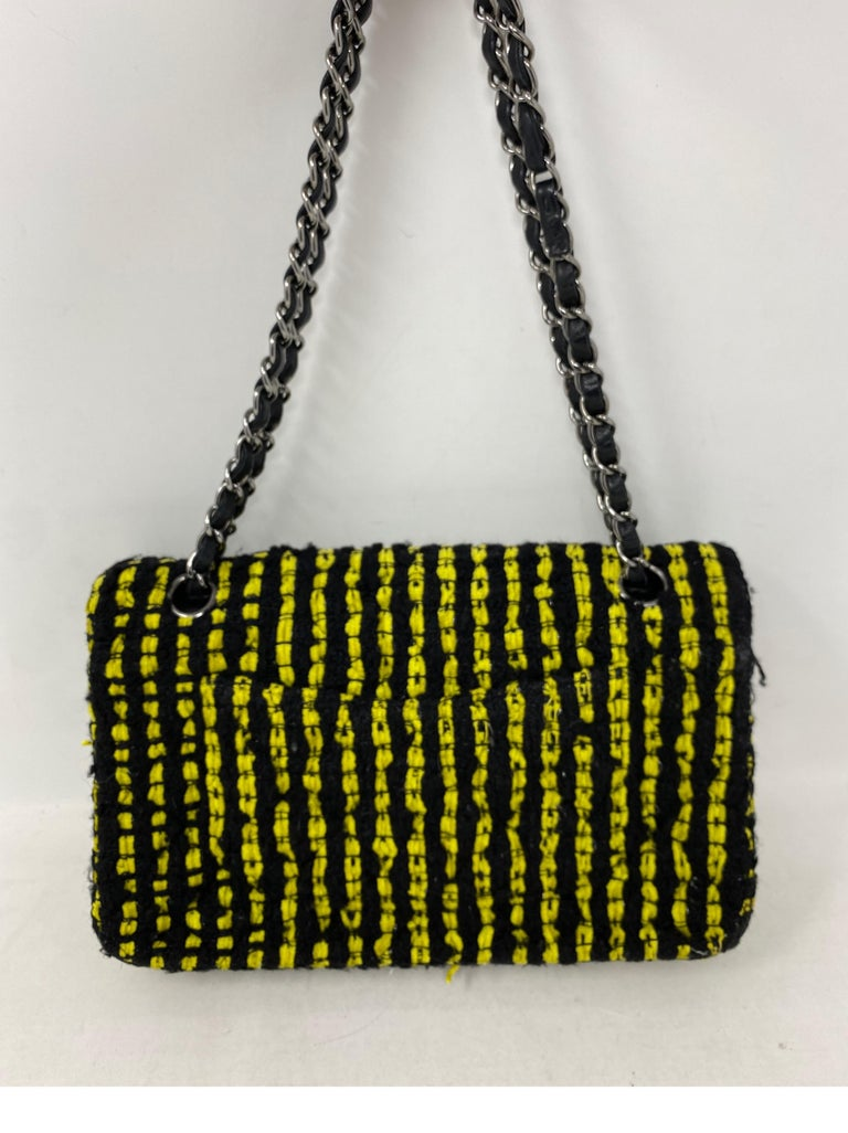 Chanel Yellow and Black Tweed Bag For Sale 4