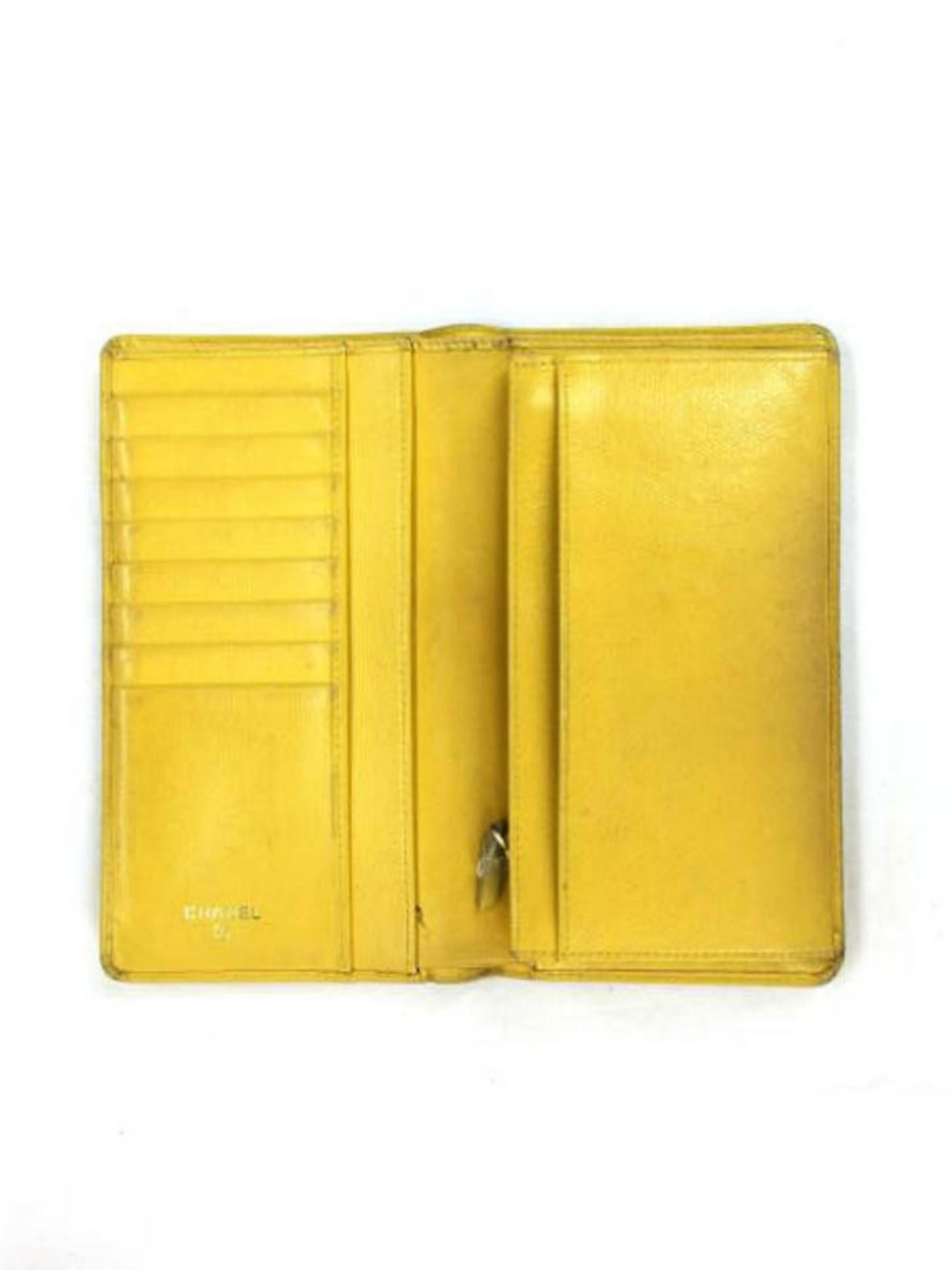 9dcfaa65d5c6 Chanel Yellow Bifold Long 226701 Wallet For Sale at 1stdibs