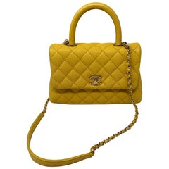 Chanel Yellow Coco Handle Bag