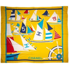 Chanel Yellow Cotton Beach Sarong/Scarf