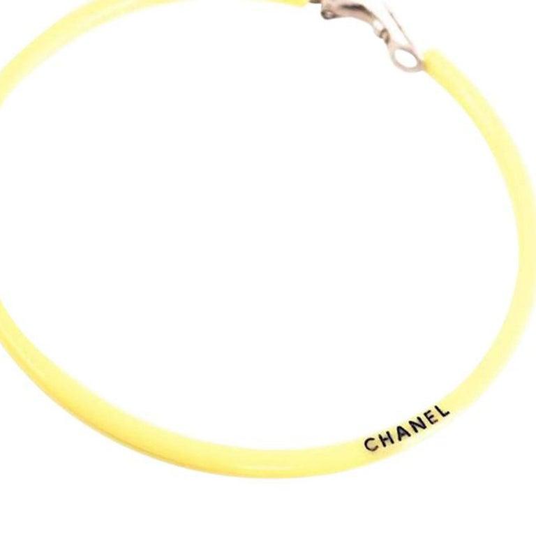 Chanel Yellow Jumbo Neon Hoop Vintage Runway 2004 Earrings For Sale 1