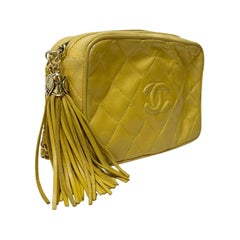 Chanel Yellow Leather Camera Bag