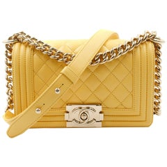 Chanel Yellow Quilted Lambskin Small Boy Flap Bag A67085Y25569