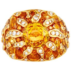 Chanel Yellow Sapphire, Diamond and Yellow Gold Ring