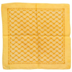 Chanel Yellow Silk Twill Pocket Square Scarf