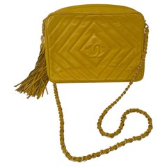 Chanel Yellow Vintage Tassel Bag