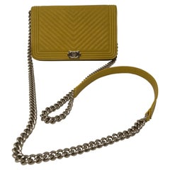 Chanel Yellow Wallet On Chain Crossbody Bag