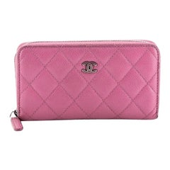 Chanel Zip Around Wallet Quilted Caviar Small
