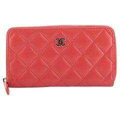 Chanel Zip Around Wallet Quilted Lambskin Compact