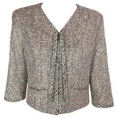 Chanel Zip Up Jacket