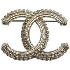 "Chanel ""Zipper"" Logo Pin, 2018"