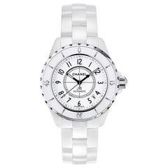 Chanel J12 White Automatic White Dial White Ceramic Watch H0970