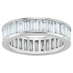 Channel Set Baguette Ring in Platinum by Selin Kent