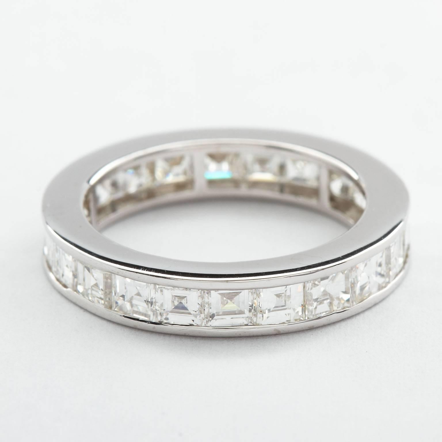 ring emerald single designers diamond band eternity product bands baguette french zoom sin stone cut in
