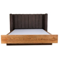 Channel Tufted Isherwood Bed with Oak Base by Lawson-Fenning