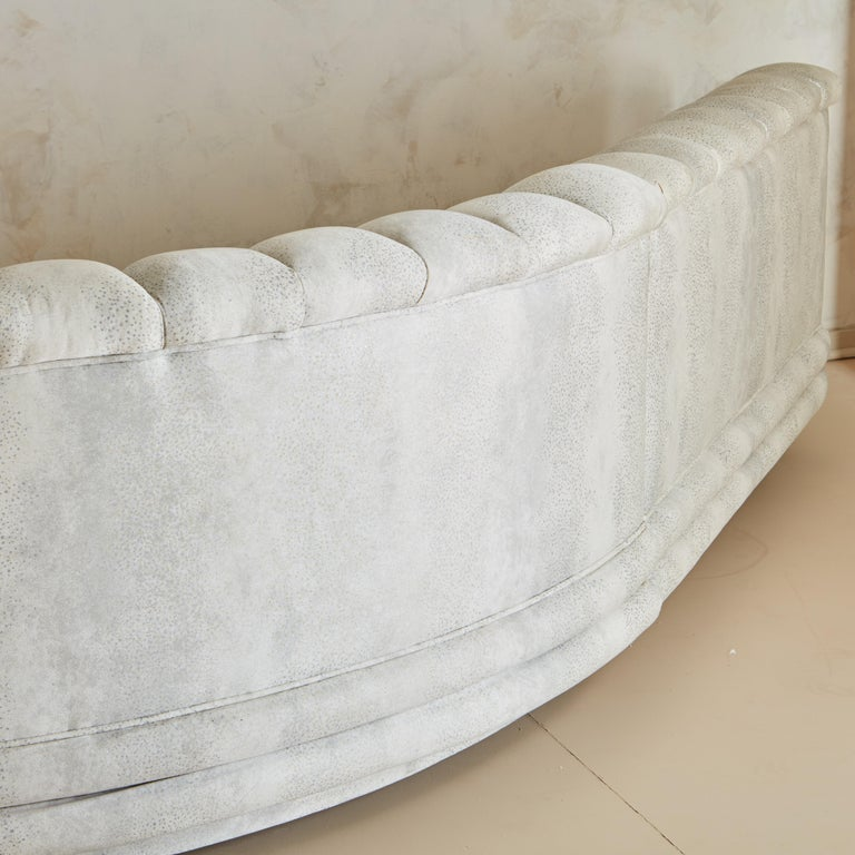 Channeled Serpentine Sectional Sofa For Sale 7